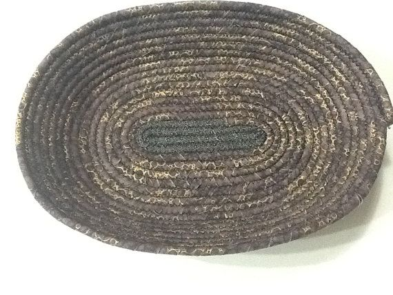 Brown Gold and Black Oval Coiled Rope Men's Valet by Clothstitched
