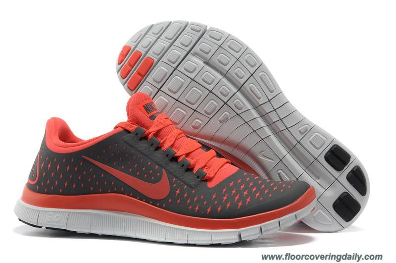 Womens Nike Free 30 V4 511495060 Dark Grey Bright Crimson Pure Platinum  Outlet