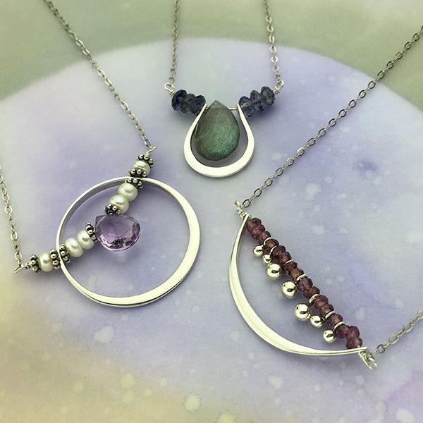 sterling silver links frame link silver link simple necklace