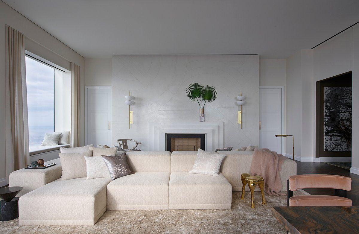 Living Room In By Kelly Behun Studio Design Woonkamer Bed