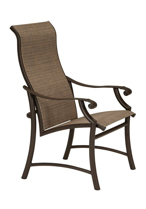 montreux ii sling high back dining chair tropitone pool