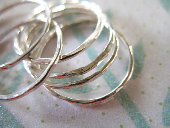 Sterling Silver Knuckle Ring Stack Ring Midi Ring, Stackable Stacking Layering Band Ring, 1 pc, size 1-10, hammered wholesale sr1 br
