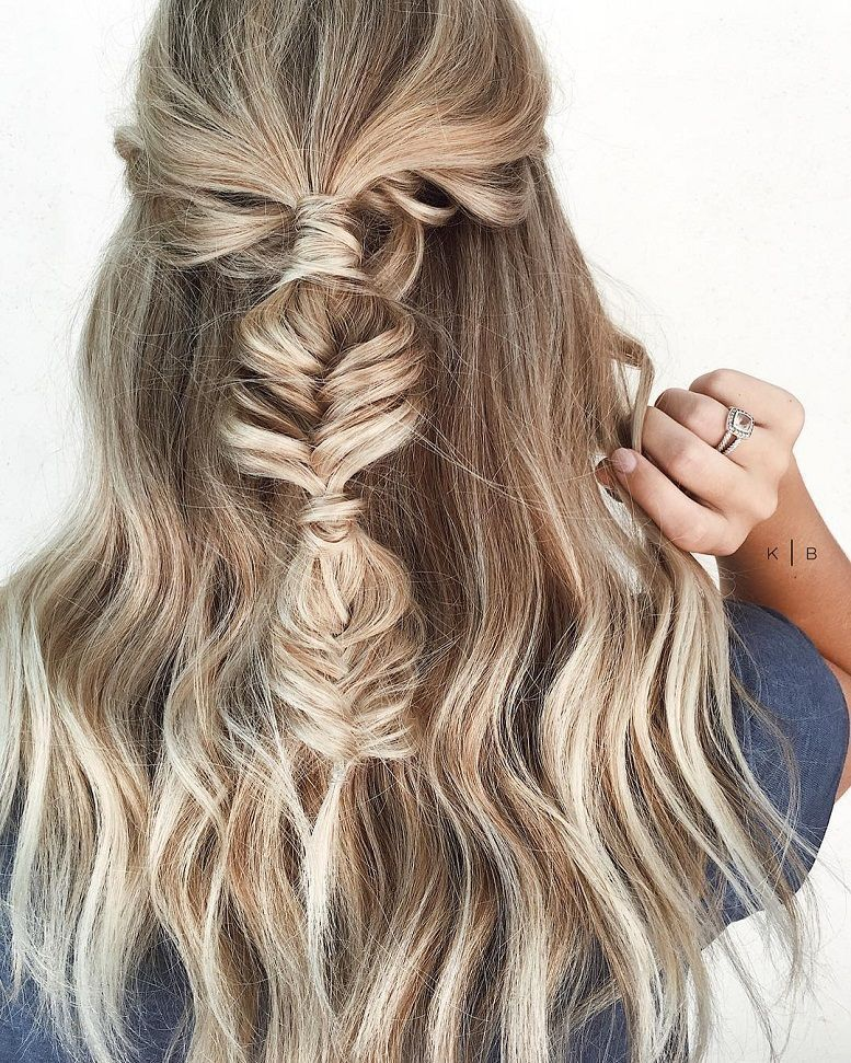 New 52 Trendy Chic Braided Hairstyle Ideas You Should Try Unique - Minimalist herringbone braid For Your House