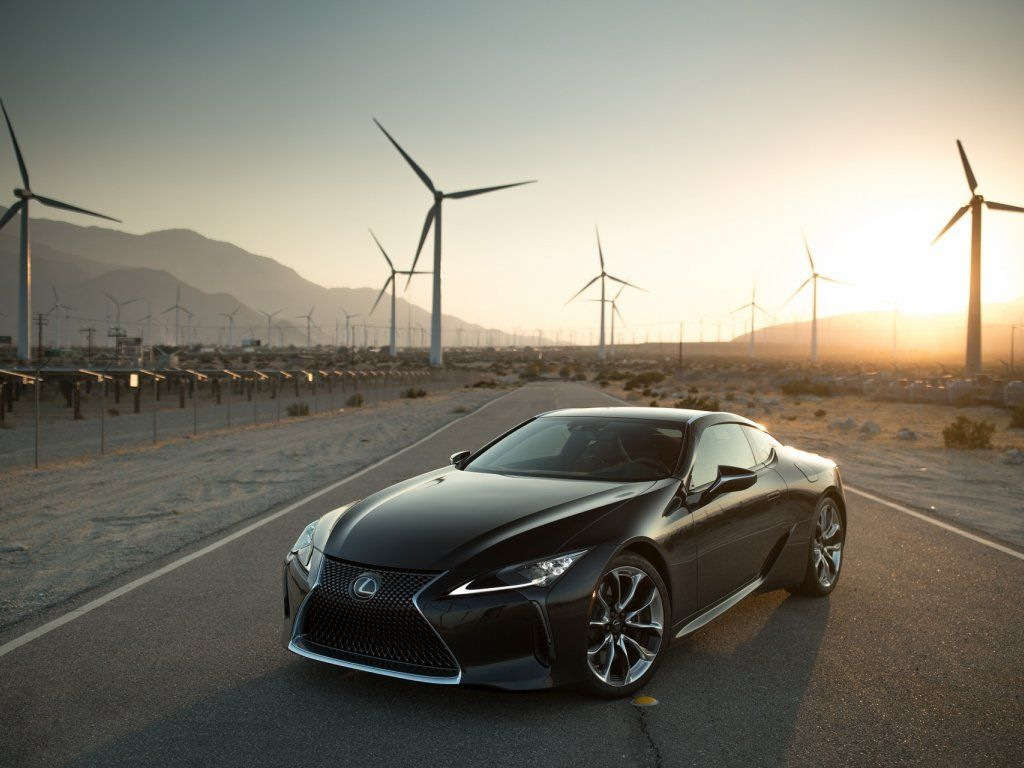 Black Turbines Landscape Lexus Lc 500 Outdoor Wallpaper