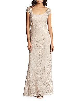 $227 was $550 Lace Scoopneck Gown
