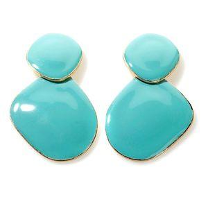 "IMAN Global Chic ""Pop of Color""  Enamel Statement Earrings at HSN.com."