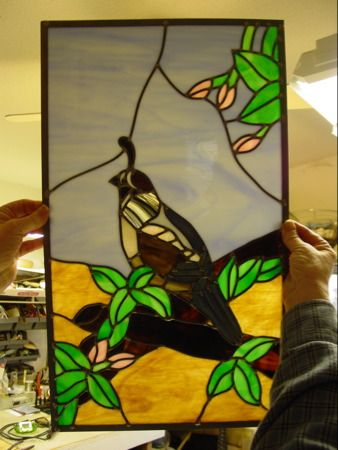 quail stained glass - Google Search