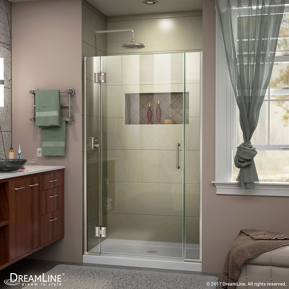 Unidoor X 41 50 Inch X 72 Inch Frameless Rectangular Clear Shower