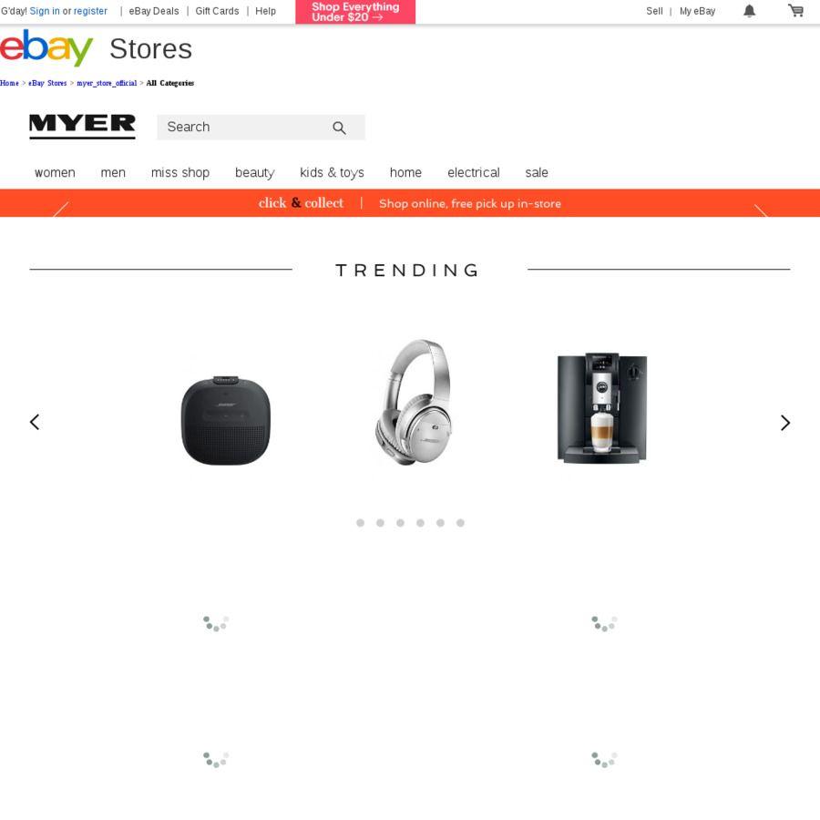 cc07000120b 20% off Myer eBay Store