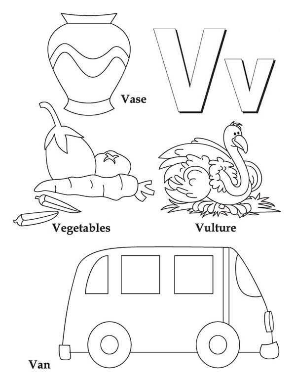 Learning Letter V Coloring Page For Kids Bulk Color Alphabet Coloring Pages Letter A Coloring Pages Abc Coloring Pages