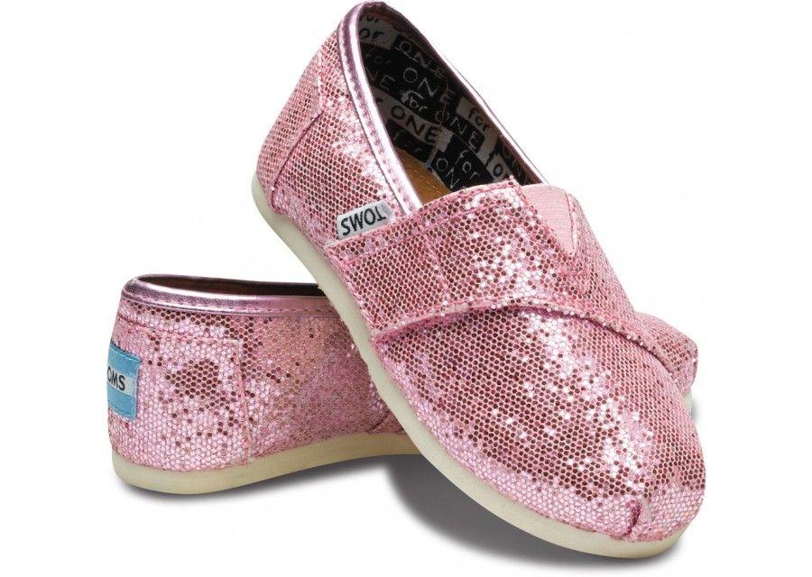Pink Tiny TOMS Glitters hero