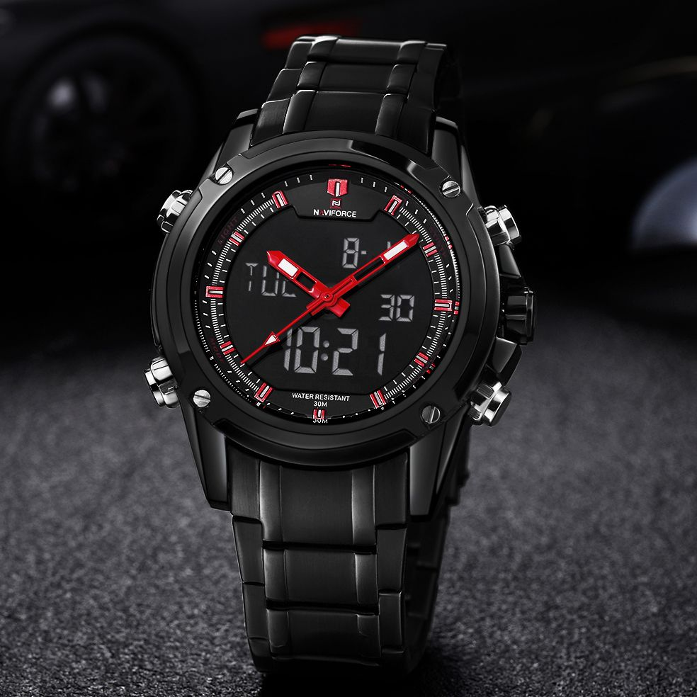 2016 Luxury Brand Men Military Sports Watches Men's Quartz LED Digital Hour Clock Male Full Steel Wrist Watch Relogio Masculino #sportswatches