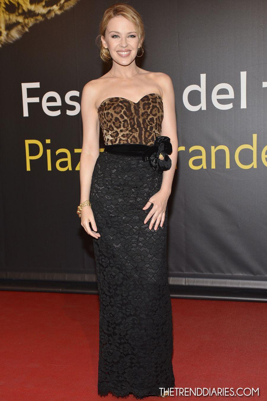 Kylie Minogue en el Leopardo de Honor Swisscom Para Leos Carax en el Festival de Cine de Locarno 65a en Locarno, Suiza - 03 de agosto 2012