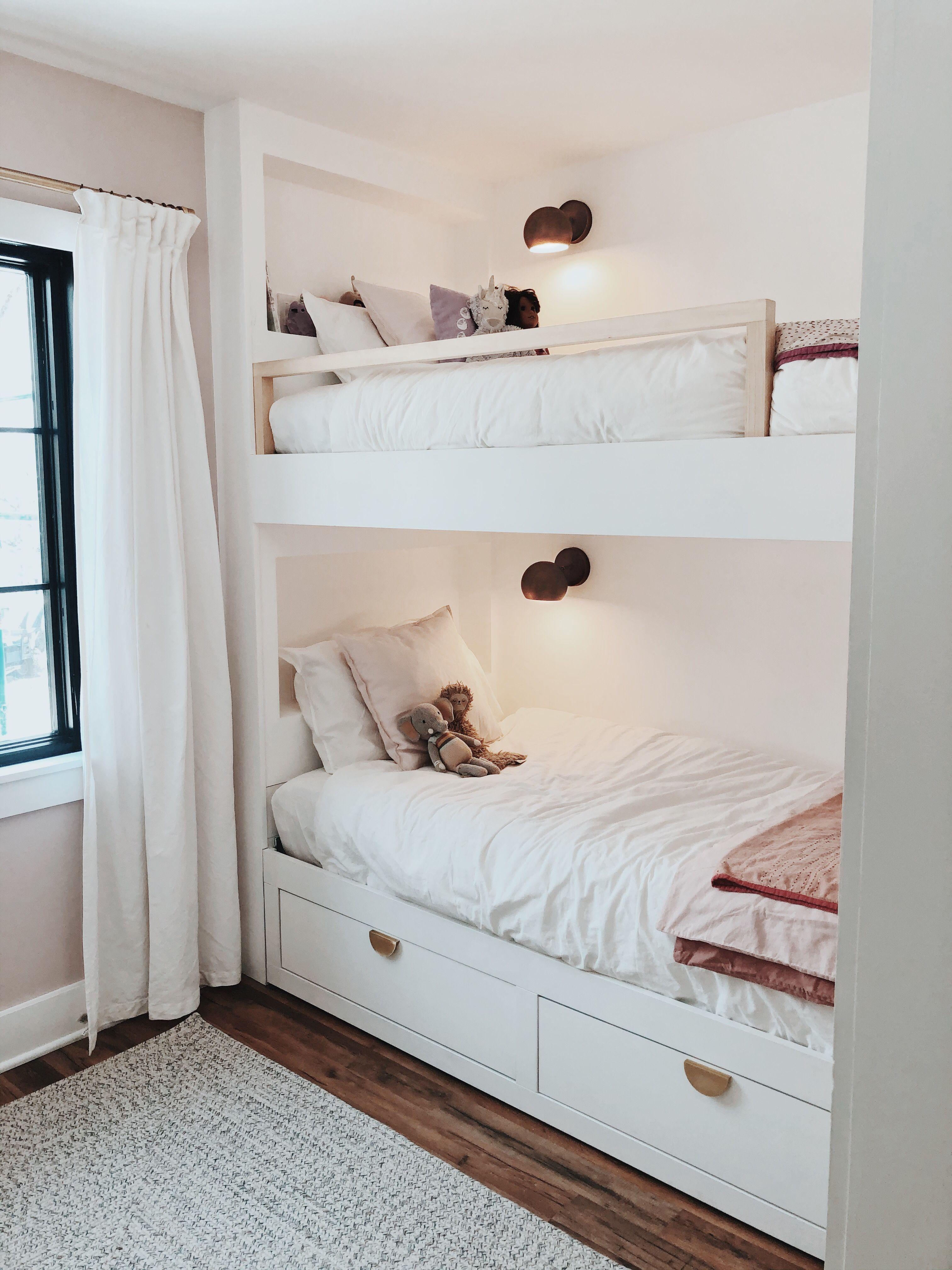 Built In Bunk Ikea Bed Hack Bunk Bed Rooms Built In Bunks Diy Bunk Bed