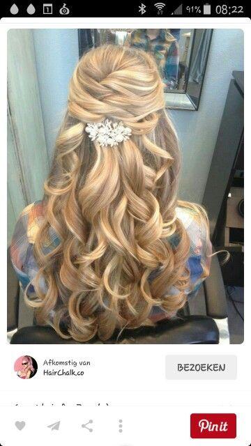 Super Mooi gala kapsel | gala | Haar voor bruiloft, Trouwkapsels at &TD96