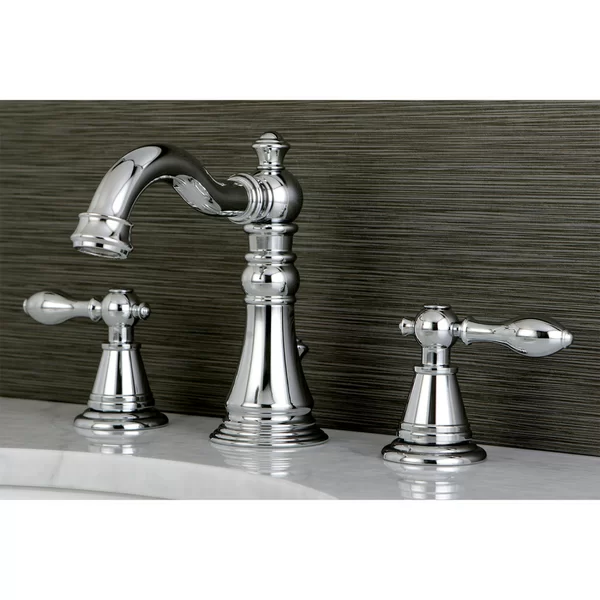 Photo of Victorian Widespread Bathroom Faucet with Drain Assembly