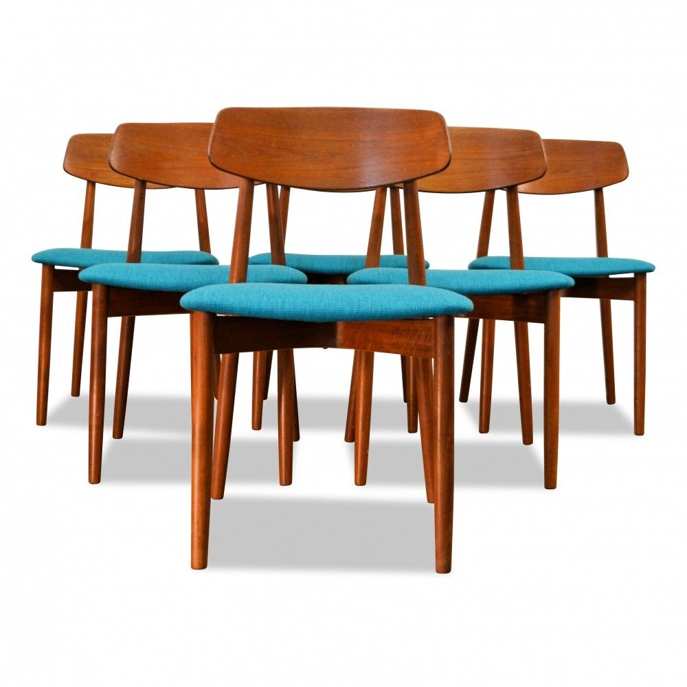 For Sale Vintage Danish Design Harry Ostergaard Teak Dining Chairs Teak Dining Chairs Wooden Dining Chairs Scandinavian Dining Chairs