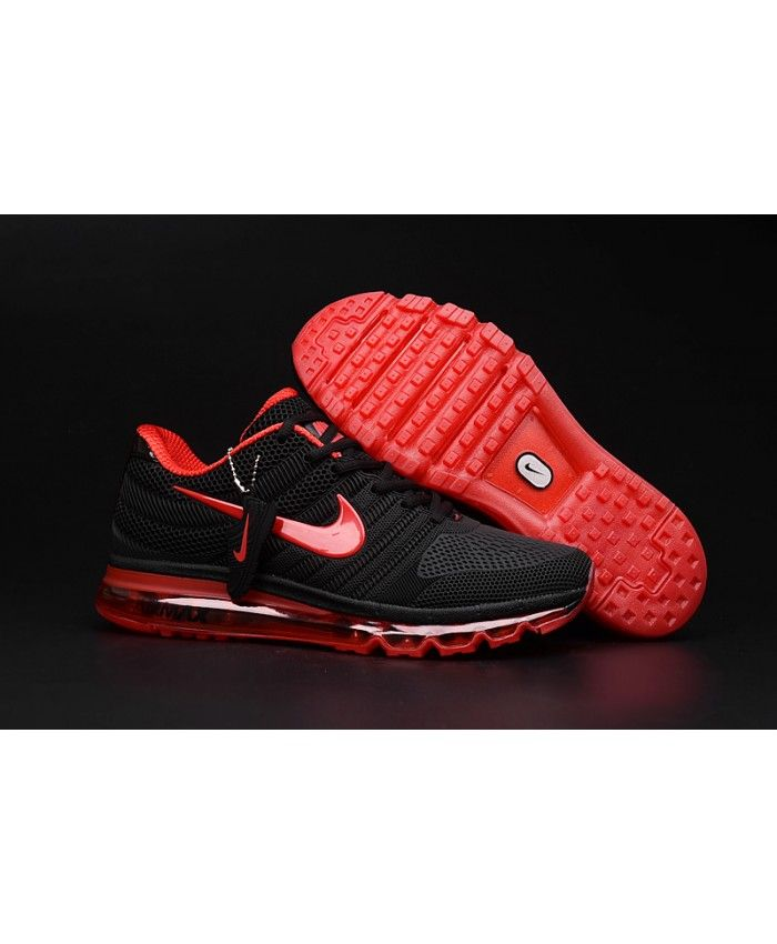 best authentic 117c7 86c35 Nike Air Max 2017 Mens Black Red Trainers