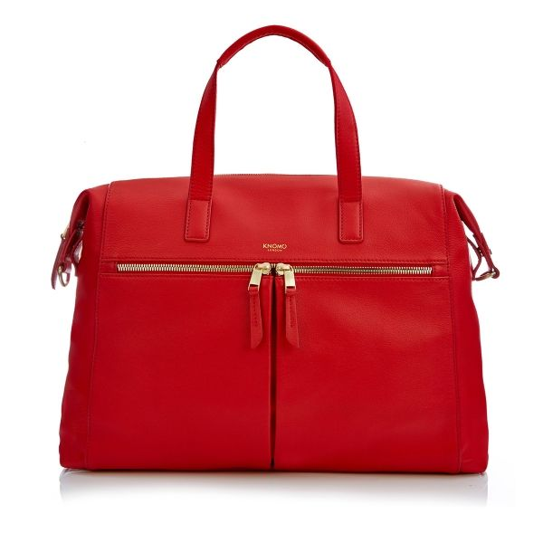 Audley Red Small Shoulder Tote from KNOMO: Official Store ...