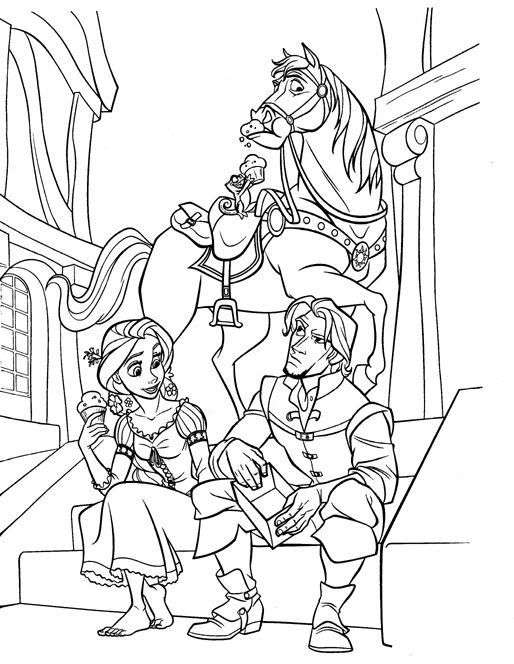 Coloriage Raiponce Coloring Pages Rapunzel Coloring Pages