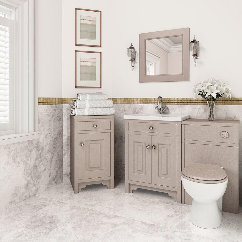Unique Tall White Gloss Bathroom Cabinet
