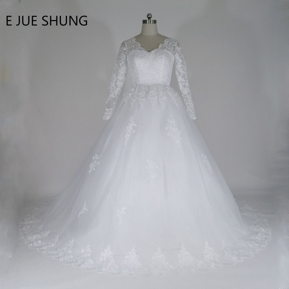 Click to buy ucuc e jue shung vintage lace appliques ball gown cheap
