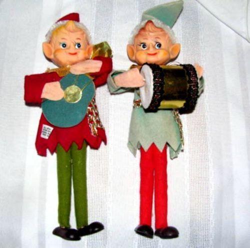 vtg lot 2 knee hugger style musician elves elm pixie rubber faces ebay