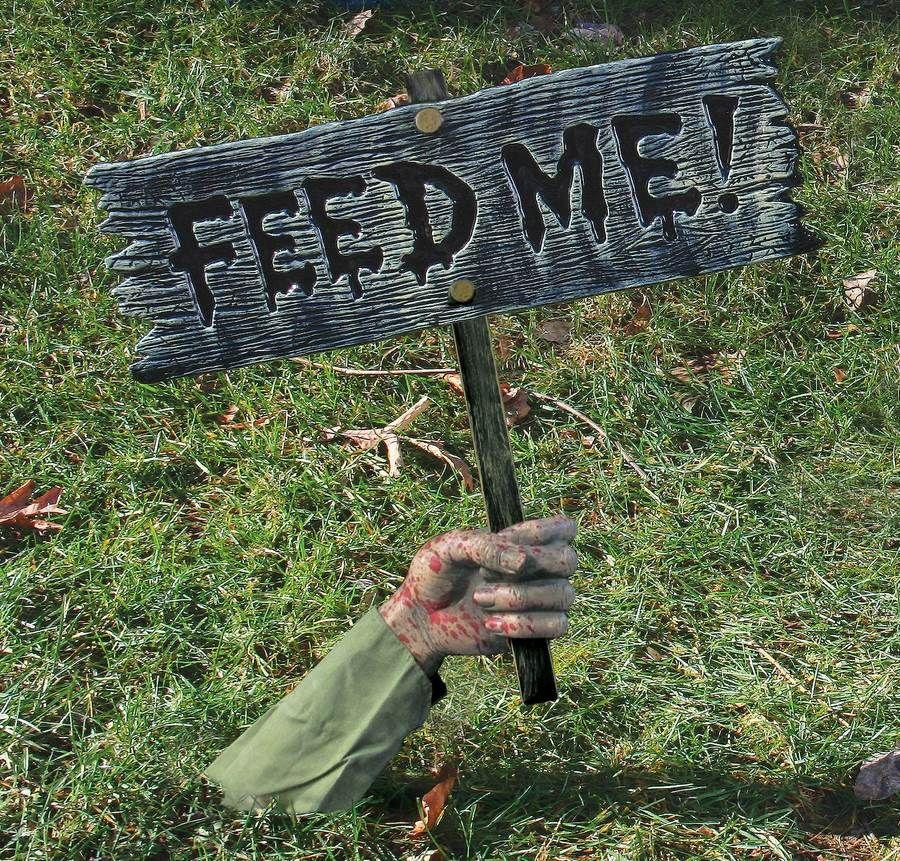 Feed Me\u0027\u0027 Lawn Sign Halloween Prop Halloween Deco Ideas
