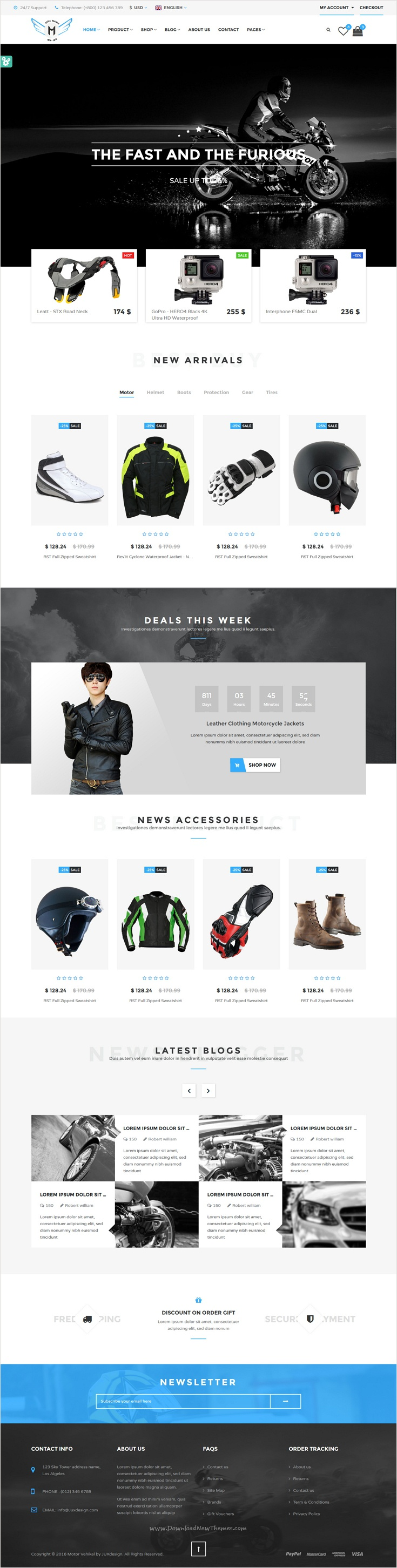 Motor vehikal is perfect 8 in 1 #bootstrap theme for Motorcycle ...