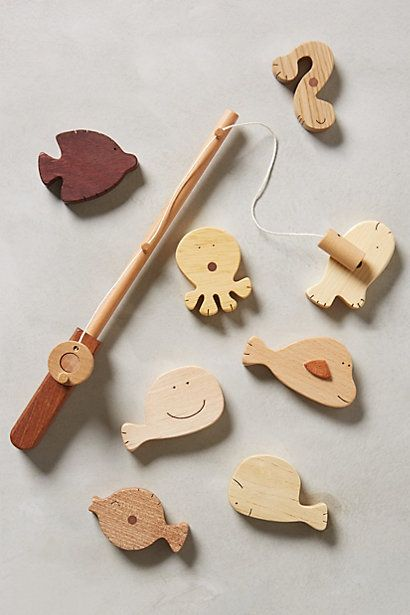 Wooden Fishing Kit Toy Wooden Toys Woodworking For Kids