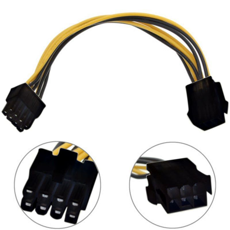 1PC 6 Pin Feamle to 8 Pin Male PCI Express Power Converter Cable CPU ...