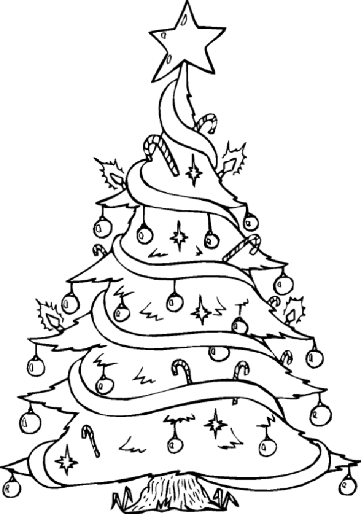 Christmas Tree Pictures To Draw For Adults Merry Merry Tree Coloring Page