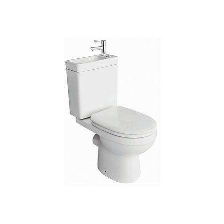 View Cooke & Lewis Duetto Close-Coupled Toilet with Integrated Basin with Soft Close Seat details