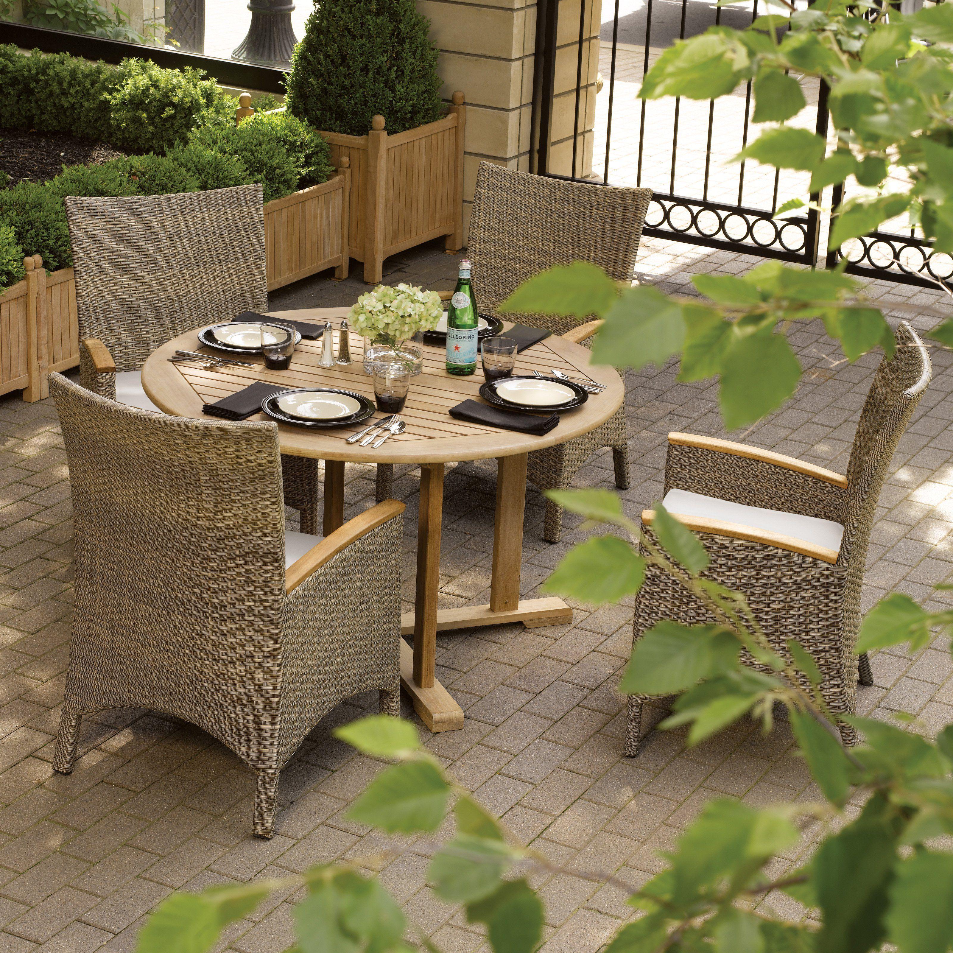 Oxford Garden Torbay Patio Outdoor Wicker Dining Set
