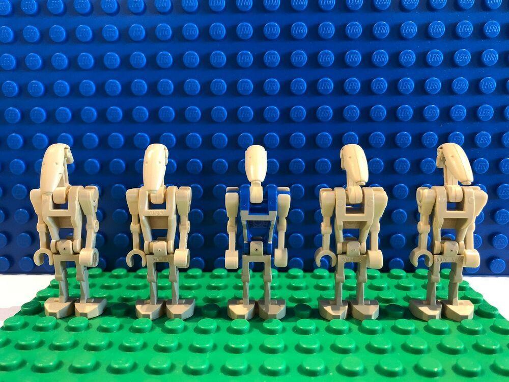 Star Wars The Clone Wars Super Battle Droid Lot x4