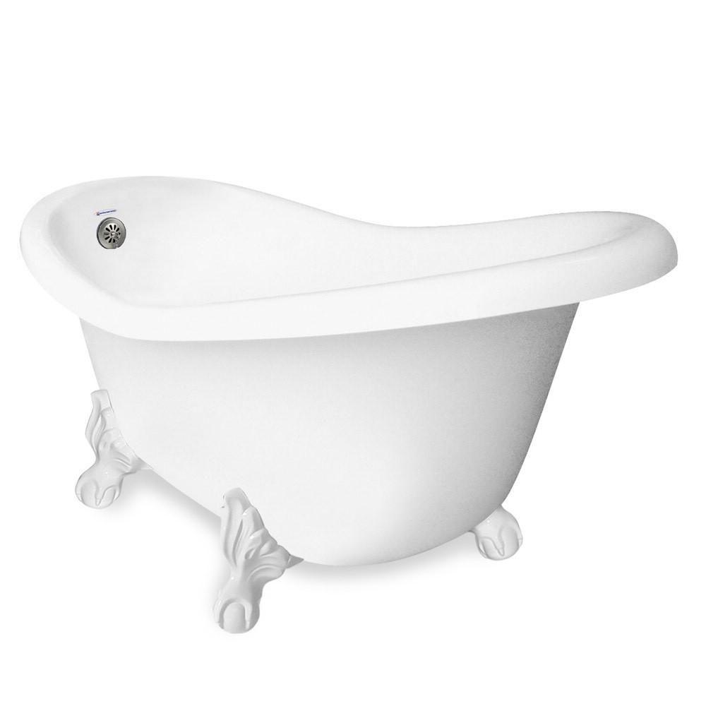 American Bath Factory 60 In Acrastone Slipper Clawfoot Non