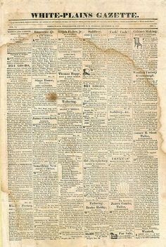 Vintage Newspaper With Marks And Stains White Plains Gazette Free Freebie Printable