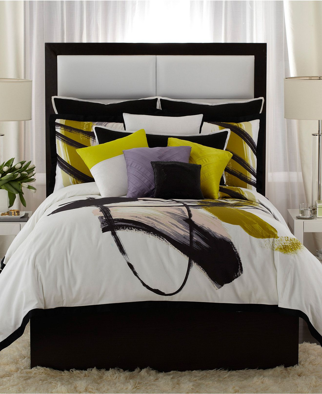 vince camuto basel comforter mini sets - bedding collections - bed