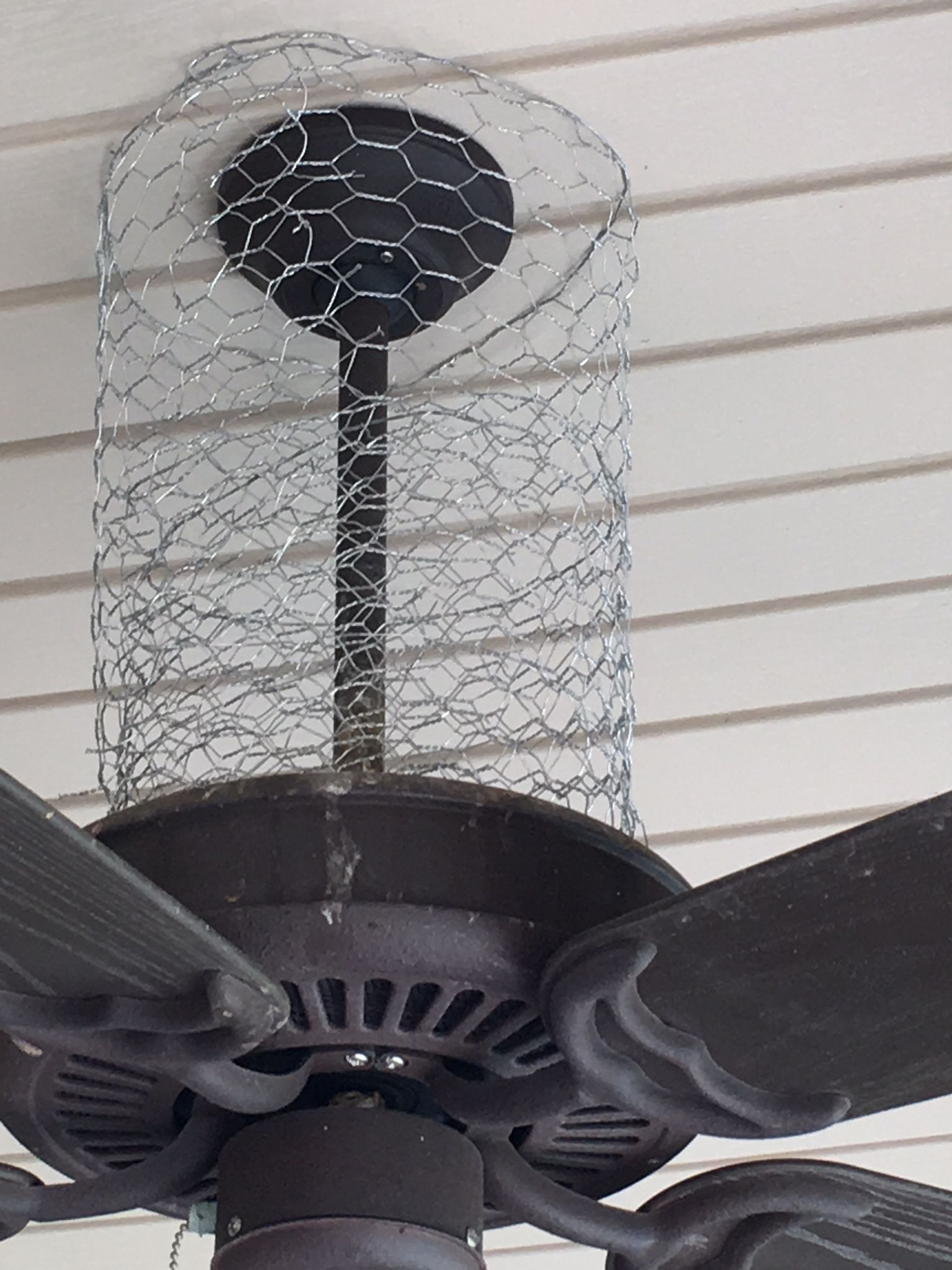 How I keep birds off of my porch Chicken wire is a versatile