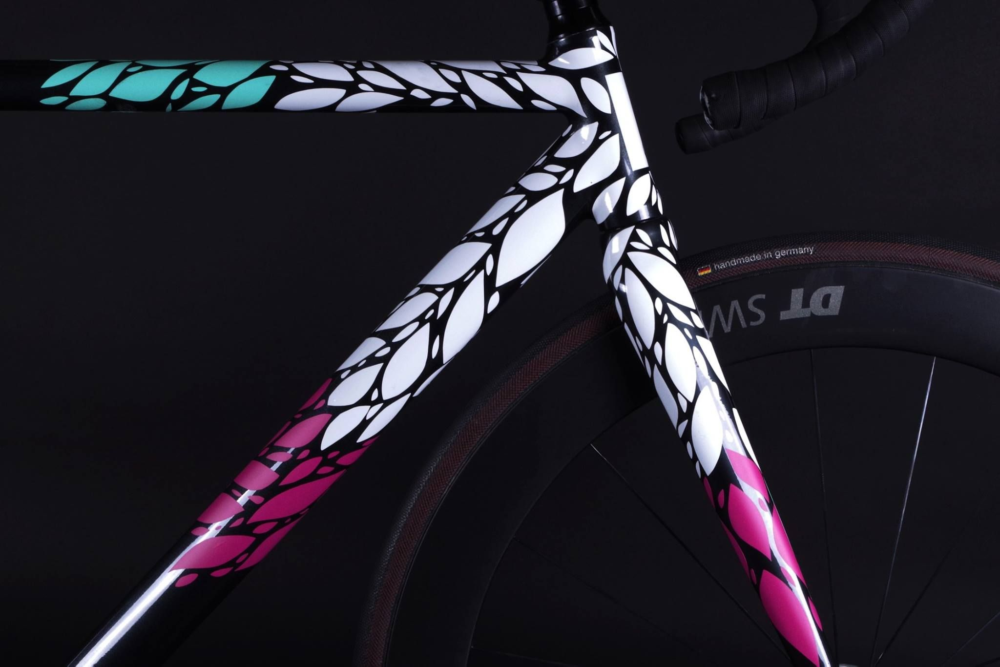 8bar Krzberg V4 Custom Floral Bicycle Paint Job Bicycle