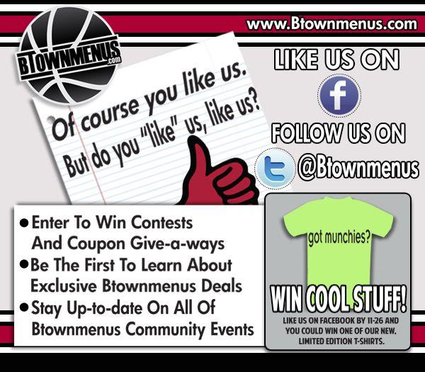 BTownMenus.com Email Blast Promo