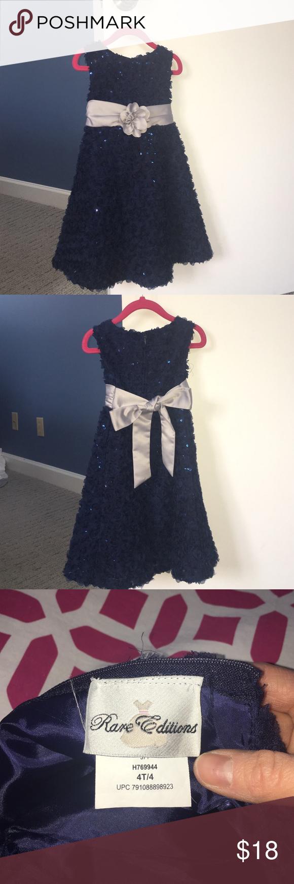 Girls Party Dress 4t Girls Party Dress Navy Blue Party Dress Blue Party Dress [ 1740 x 580 Pixel ]