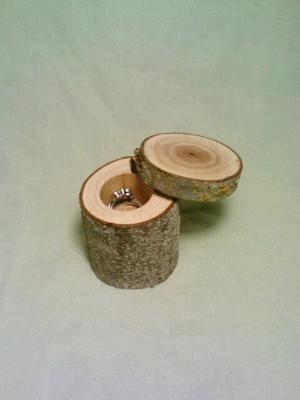 Jewelry Box Rustic Wedding Ring Bearer Box by DeerwoodCreekGifts
