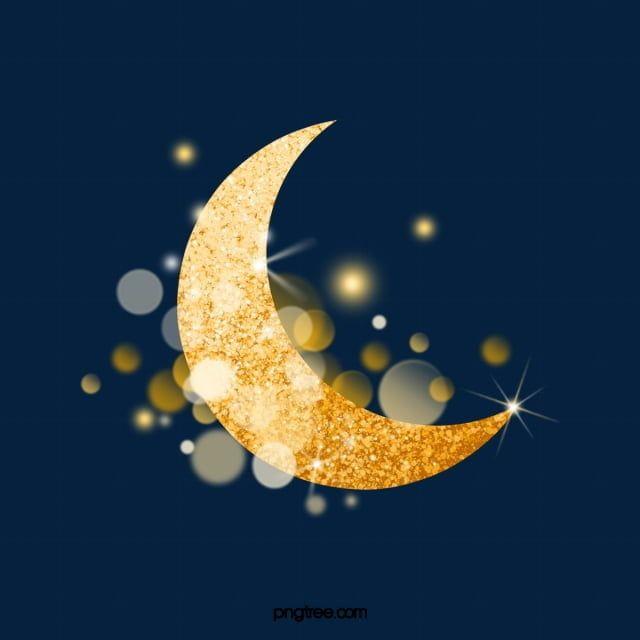 رمضان هلال القمر الذهبي رمضان مهرجان الإسلام Png وملف Psd للتحميل مجانا Moon Decor Nightmare Before Christmas Drawings Decorating With Pictures