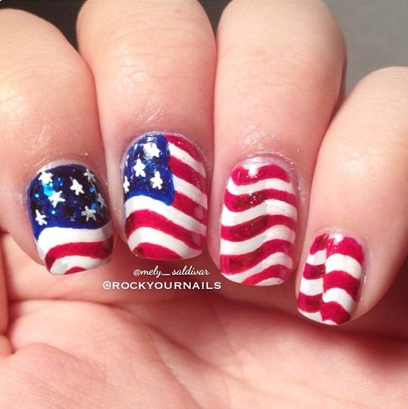 Memorial Day Nails or for the 4th of July | American Style ...
