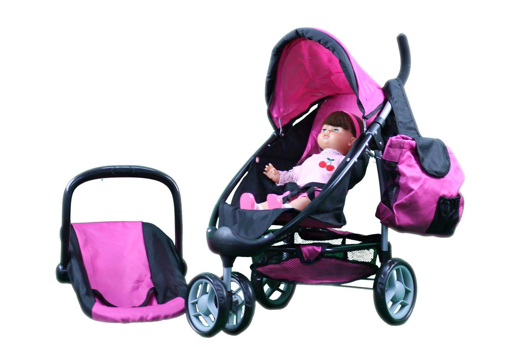 Mommy & Me 2 in 1 Doll Stroller / Carrier with FREE
