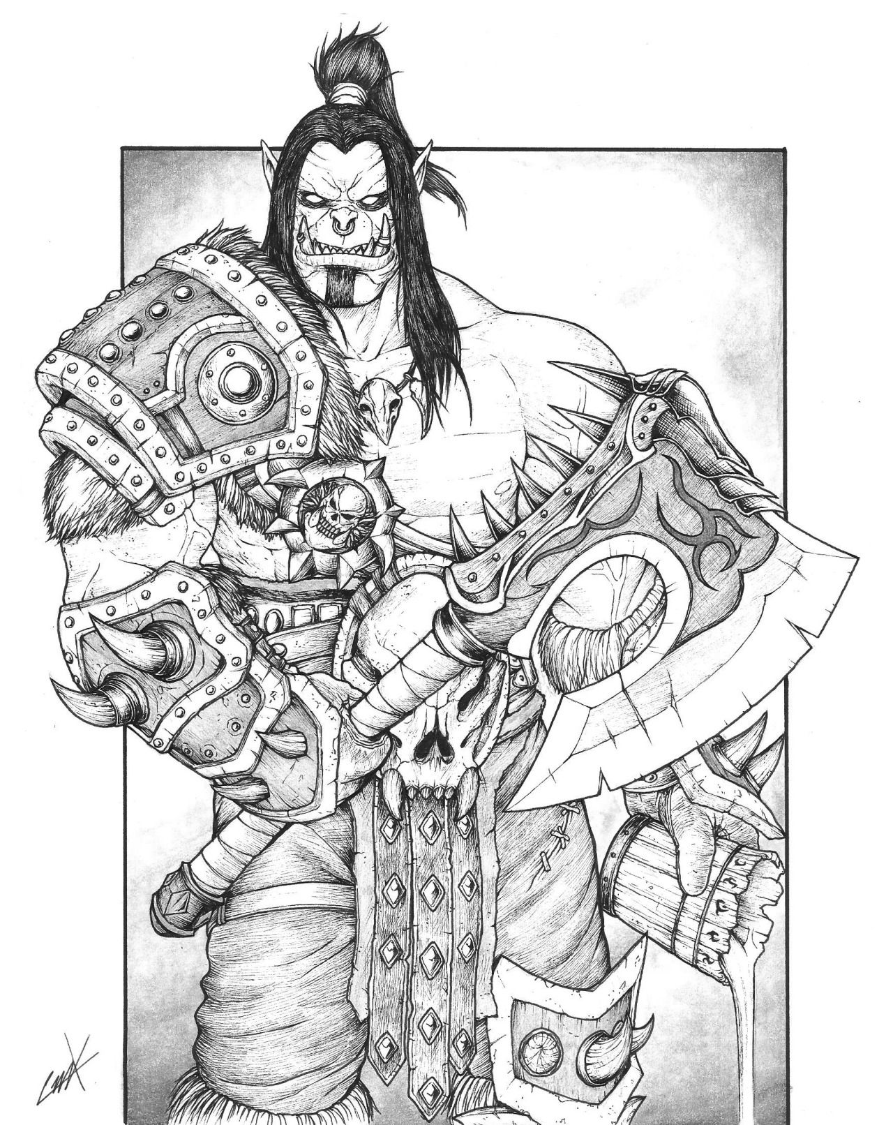 Grom Hellscream from Warcraft >D Warlords of... - Art of Krump ...