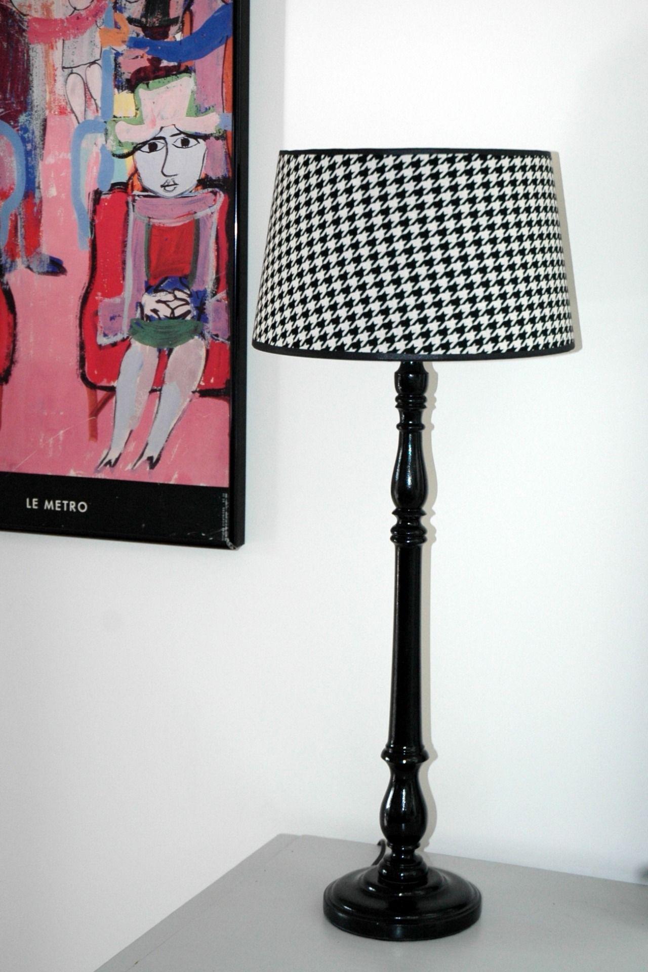 """La Parisienne Grande lampe Retro """"Pied de poule"""" Luminaires par"""