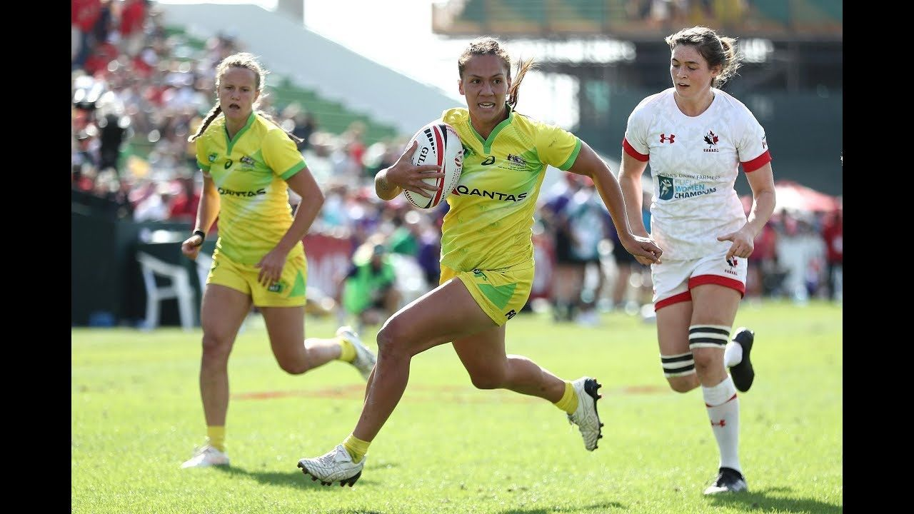 Australia Womens Rugby Match Team Hsbc Sevens Series U20 Championship Pa Womens Rugby Famous Sports Rugby