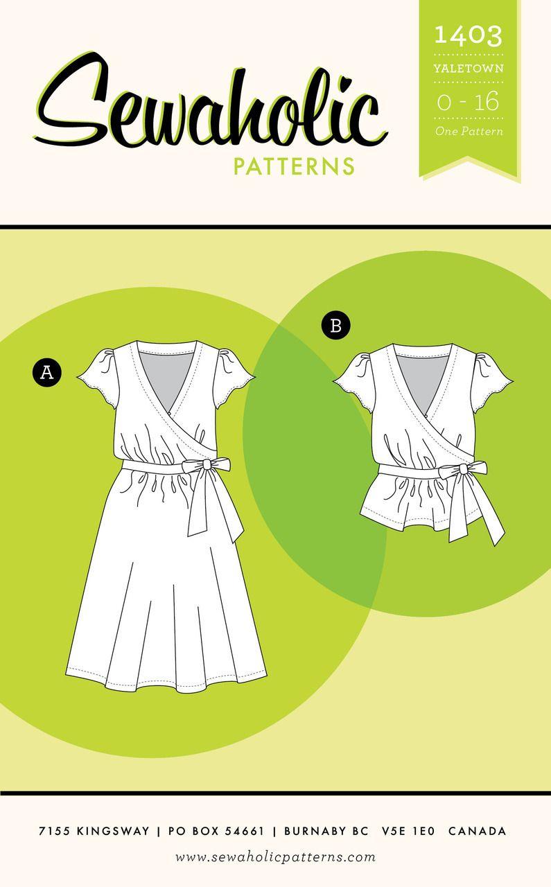 Yaletown Dress & Blouse PDF Pattern   Pinterest